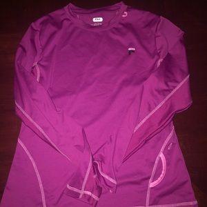 Women's XL FILA workout long sleeve dry fit